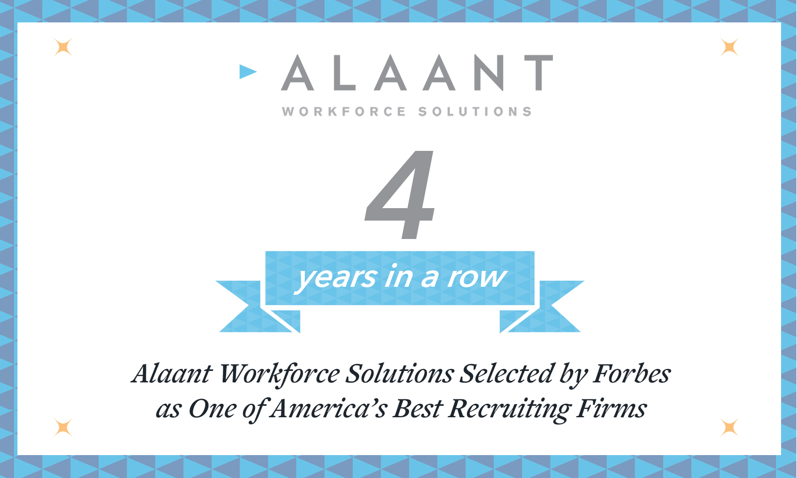 Alaant Workforce Solutions Selected by Forbes as One of America's Best Recruiting Firms